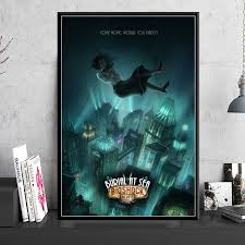 Mega Deal Ebe69 Bioshock Rapture Video Game Posters And Prints Canvas Painting Wall Pictures For Living Room Art Decorative Home Decor Cuadros Cicig Co