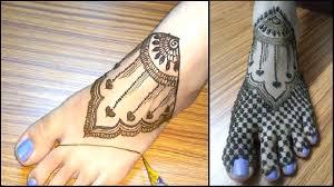 mehndi s design to put on foot