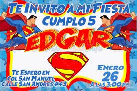 Invitacion De Cumple Anos Infantil Superman Original 80 00 En