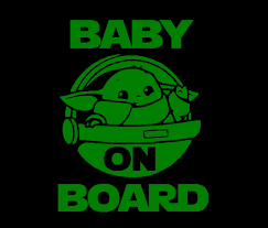 Baby Yoda Baby On Board Windshield Decal Dudeiwantthat Com