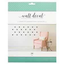 Vinyl Wall Decal Hearts American Crafts