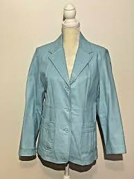 leather jacket coat sz 10 metro style