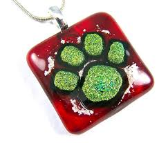dog paw print memorial cremation ashes