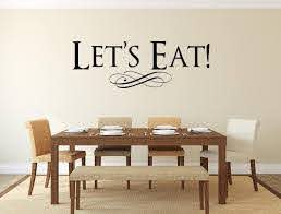 Let S Eat Vinyl Wall Decal Inspirational Wall Signs