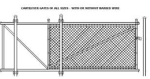 178a Chain Link Cantilever Gate Drawing Factory To You Fence