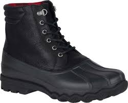 sperry leather boot rubber duck sider