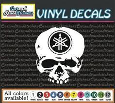 Yamaha Motorcycle Racing Skull Crossbones Vinyl Decal Window Sticker 10 Ebay