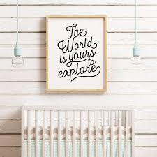 The World Is Yours To Explore Printable Art Kids Room Decor Etsy