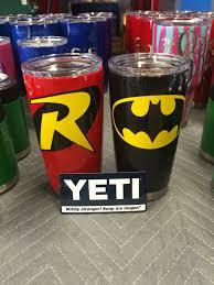 Batman Robin Powder Coated Yeti Ramblers Www Facebook Com Doubledironworks Yeti Cup Designs Decals For Yeti Cups Kids Tumbler