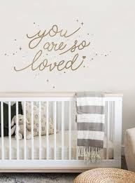 Amazon Com Simple Shapes You Are So Loved Quote Lettering Wall Decal With Diamonds Dots And Heart Gold Home Kitchen