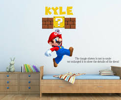 Personalized Super Mario Wall Decal Removable And Replaceable For Sale Online