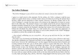 ysis essay the yellow wallpaper