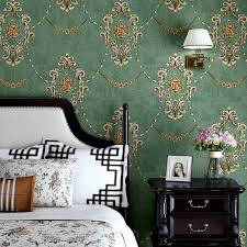 American Rustic Vintage Flower Wallpaper Retro Blue Green Wallpapers Roll Bedroom Decor Murals Non Woven Wall Paper Kids Wallpaper Kitchen Wallpaper From Nmm367 20 64 Dhgate Com