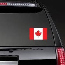 Canada Flag Sticker Vinyl Canada Flag Decal Car Stickers