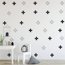 Wall Stickers For Kids Cross Black And White Cross Wall Decal Nursery Art Wall Stickers Lx329 Wall Stickers Aliexpress