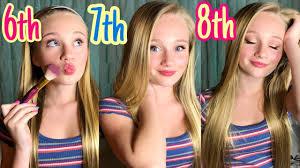 makeup routine 6th 7th 8th grade