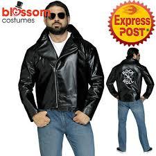 mens rock n roll faux leather jacket