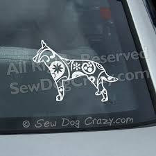 Paisley Cattle Dog Decal Sew Dog Crazy