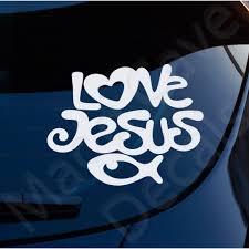 Love Jesus Fish Decal