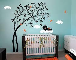 Modern Baby Nursery Wall Decal Tree Sticker Mural Teddy Decor Kr039 Studioquee On Artfire