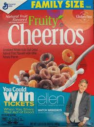 fruity cheerios cereal 19 6 oz box