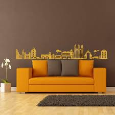 Amazon Com Vinyl City Wall Decal Building Wall Decal City Life Wall Sticker Wall Decor Wall Mural Wall Graphic Home Art Decor Light Yellow Home Kitchen