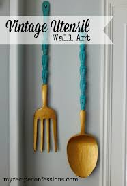 Wooden Kitchen Utensil Wall Art My Recipe Confessions