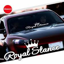Noizzy Royal Stance Decal Car Sticker Crown Jdm Vinyl Reflective Auto Front Windshield Window Tuning Car Styling Car Stickers Aliexpress