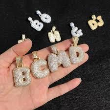 Custom 18K Gold Bubble Letter Necklaces ... - Depop