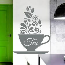 Kitchen Cup Wall Decal Tea Cup Kitchen Teahouse Decor Sticker Art Cafe Decoration Interior Design Home Vinyl Decal Ny 367 Wall Decals Vinyl Decaldecorative Stickers Aliexpress