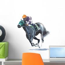 Horse Racing Jockey Wall Decal Wallmonkeys Com