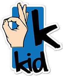 Amazon Com Ok Kid Hand Car Sticker Decal Funny Joke Slang Trending Hand Gesture Automotive