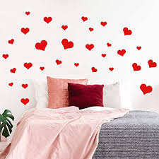 Amazon Com Set Of 30 Valentines Day Vinyl Wall Art Decal Hearts From 2 To 8 Each Trendy Cute Artistic Design Love For Home Storefront Coffee Shop Couples Valentine S Day