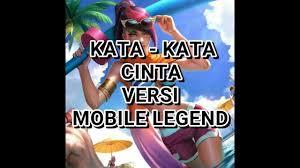 kata kata cinta quotes galau versi mobile legend