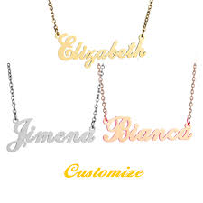 custom ring nameplate necklace gold