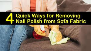 removing nail polish from sofa fabric
