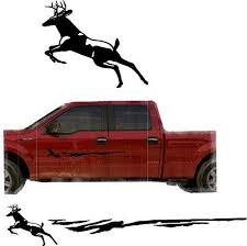 Hunting Deer Trailer Decals Truck Decal Side Set Vinyl Sticker Auto De