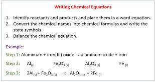writing a balanced chemical equation