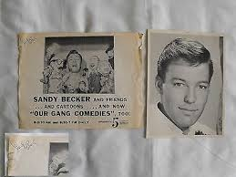 vintage Sandy Becker NYC tv show 1955-68 signed flier and photo | #536983334