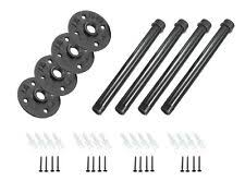 4 Pack Black Metal Steel Fence Mounting Brackets Durable Galvanized For Sale Online Ebay