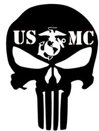 Punisher Marines Car Window Vinyl Sticker Usmc Tattoo Marine Corps Tattoos Punisher