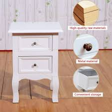 joolihome white wood bedside tables