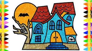 Dạy Bé Vẽ Và Tô Màu Ngôi Nhà Ma Ám Halloween