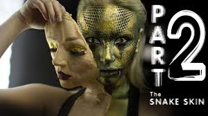shedding snake human makeup tutorial