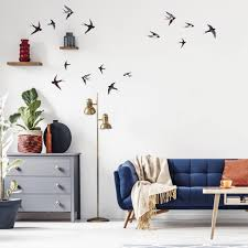 Beautiful Black And White Swallows Bird Wall Stickers For Happy Homes Made Of Sundays