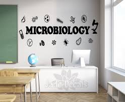 Microbiology Wall Decal Microbiology Decor Classroom Wall Decal Science Wall Art