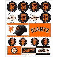San Francisco Giants Stickers 1 Sheet Party City