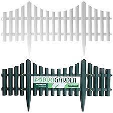 Set Of 4 Plastic Wooden Effect Lawn Border Edge Garden Edging Plant Picket Fencing Panels Set White Amazon Co Uk Diy Tools