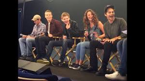 The Maze Runner Cast Interview with Will Poulter, Kaya Scodelario, Thomas  Sangster, Dylan O'Brien - YouTube