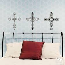 Wrought Iron Cross Religious Vinyl Wall Decal Graphic Sticker Bedrooms Wallternatives
